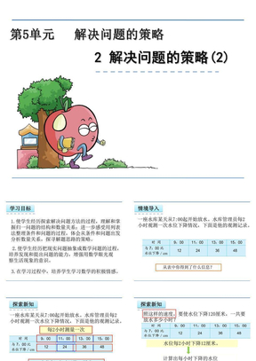 苏教版小学四年级数学上册课件《解决问题的策略  》.ppt