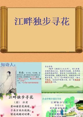 《江畔独步寻花》ppt课件.pptx