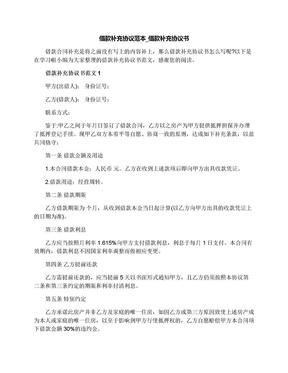 借款补充协议范本_借款补充协议书.docx