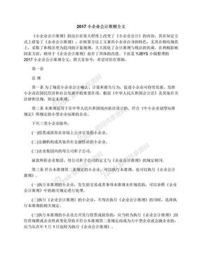 2017小企业会计准则全文.docx