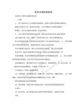 财务内部控制制度.doc