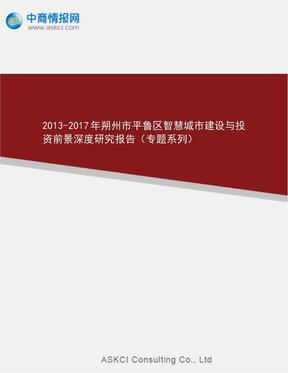2017年朔州市平鲁区智慧城市建设及投资前景深度研究.doc