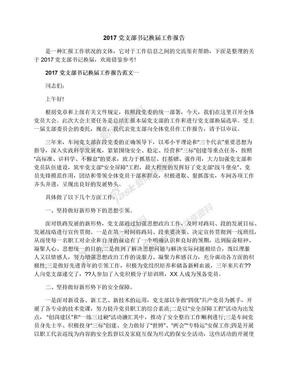 2017党支部书记换届工作报告.docx