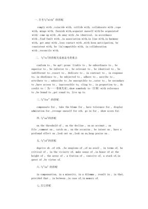 六级考试常考搭配全攻略.doc