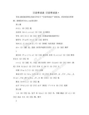日语单词表 日语单词表·.doc