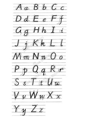 26个英文字母手写体一张.doc