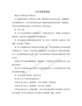 中小学财务制度.doc