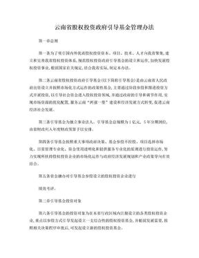云南省股权投资政府引导基金管理办法.doc