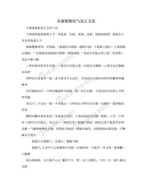 各派炼精化气炁之方法.doc