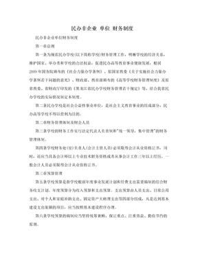 民办非企业 单位 财务制度.doc