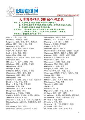 大学英语四级688核心词汇.pdf