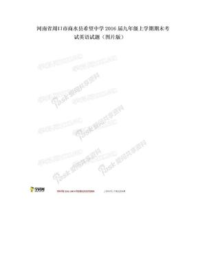 河南省周口市商水县希望中学2016届九年级上学期期末考试英语试题(图片版).doc