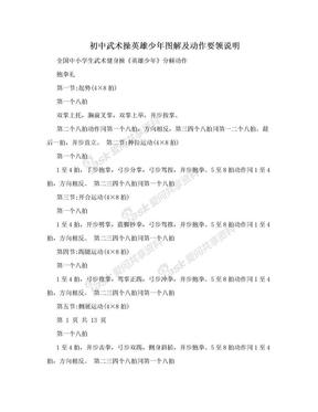 初中武术操英雄少年图解及动作要领说明.doc