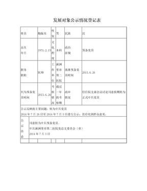 发展对象公示情况登记表.doc