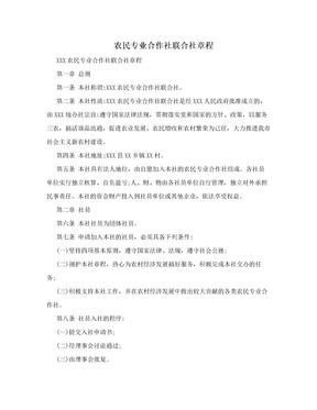 农民专业合作社联合社章程.doc