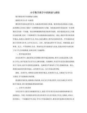 小学数学教学中的困惑与感悟.doc