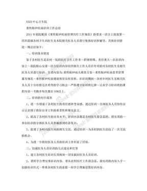 重性精神病培训工作总结.doc