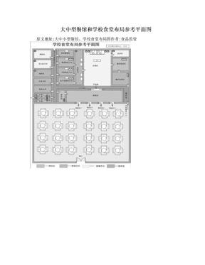 大中型餐馆和学校食堂布局参考平面图.doc