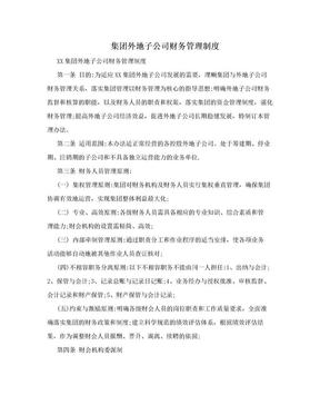 集团外地子公司财务管理制度.doc