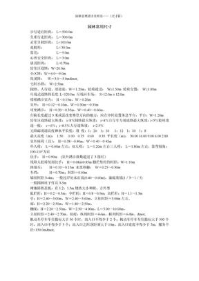 园林景观设计及理论——(尺寸篇).doc