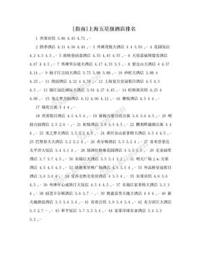 [指南]上海五星级酒店排名.doc