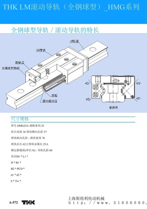 THK LM滚动导轨(全钢球型)_HMG系列.ppt