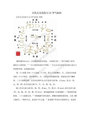 古代天文历法与24节气知识.doc