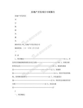 房地产开发项目可研报告.doc