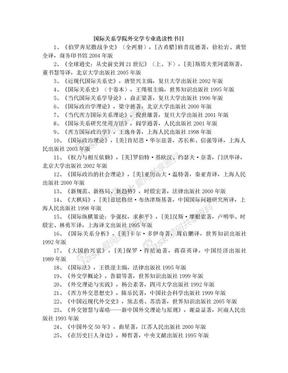 国际关系学院外交学专业选读性书目.doc