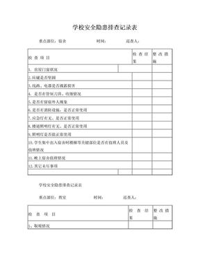 学校安全隐患排查记录表.doc