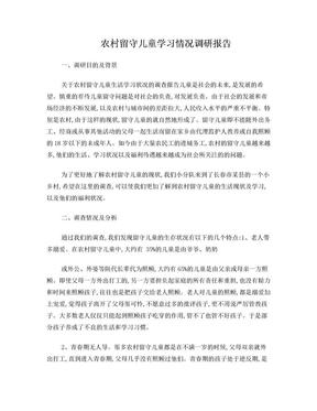 农村留守儿童学习情况调研报告.doc