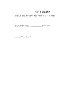 合同条款偏离表.doc