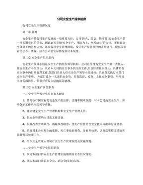 公司安全生产规章制度.docx