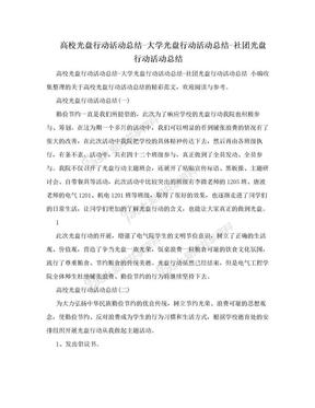 高校光盘行动活动总结-大学光盘行动活动总结-社团光盘行动活动总结.doc