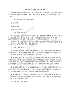 物业小区春节期间安全实施方案.docx