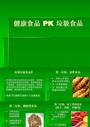 健康食品 PK 垃圾食品.ppt