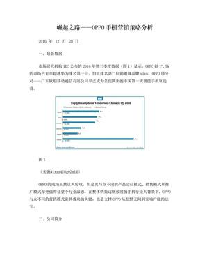 崛起之路——OPPO手机营销策略分析.doc