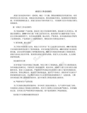 质量月工作总结报告.docx
