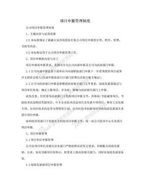 项目申报管理制度.doc