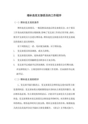 增补选党支部委员的工作程序.doc