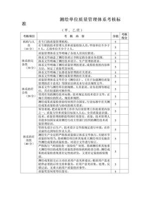 测绘单位质量管理体系考核标准.doc