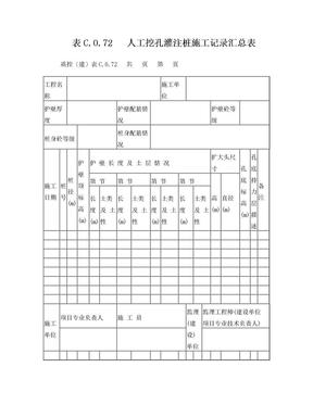 人工挖孔桩施工记录汇总表.doc