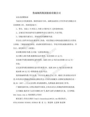 鲁南制药集团股份有限公司.doc