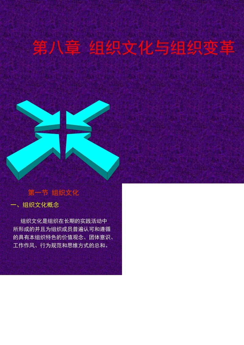 第八章 组织文化与组织变革.ppt