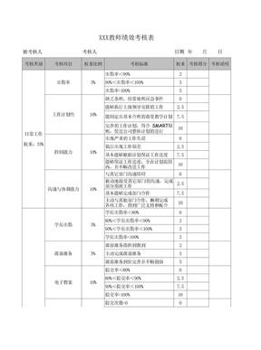 教师绩效考核表.xls