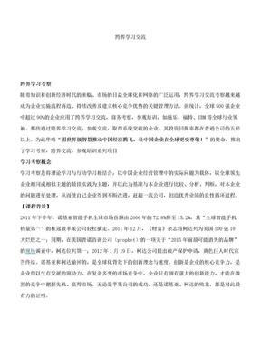 跨界学习交流.doc