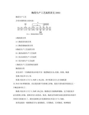 陶瓷生产工艺流程讲义2003.doc