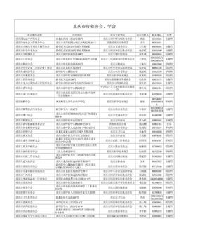 重庆市行业协会、学会名录.xls