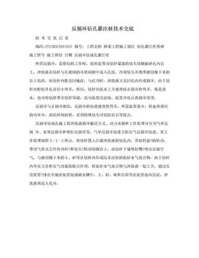 反循环钻孔灌注桩技术交底.doc
