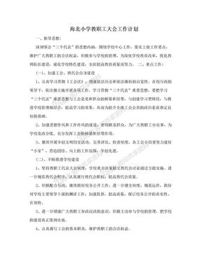 海北小学教职工大会工作计划.doc
